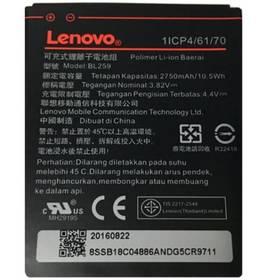 Lenovo BL259 pro K5 / K5 Plus / C2, Li-Pol 2750mAh - bulk (8595642258350) čierna