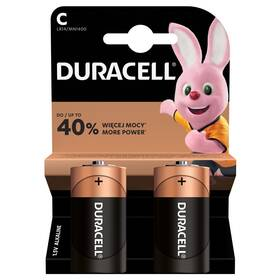 Batéria alkalická Duracell Basic C, LR14, 1.5V, blistr 2ks