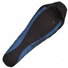 Husky péřový Drape -20°C černý/modrý + Doprava zdarma