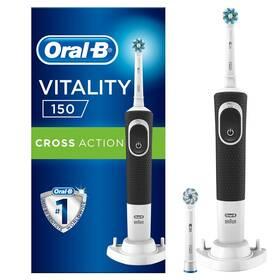 Oral-B Vitality 100 Black Cross Action + 1 Sensi hlavice