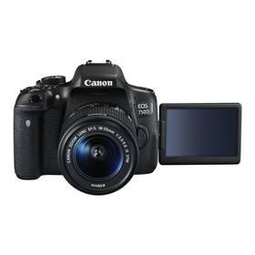 Canon EOS 750D + 18-55 IS STM + ramenní popruh JOBY Zdarma černý Paměťová karta Kingston SDXC 64GB UHS-I U1 (90R/45W) (zdarma) + Doprava zdarma