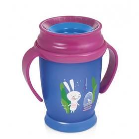 LOVI 360 JUNIOR Rabbit s úchytky 250ml modrý/ružový