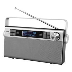 Sencor SRD 6600 DAB+  DAB / FM RÁDIO (35048617) stříbrný