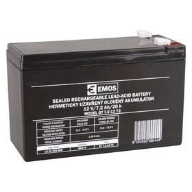EMOS bezúdržbový 12 V/7,2 Ah, faston 6,3 mm (B9674)