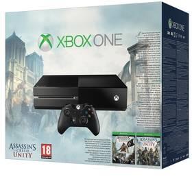 Microsoft Xbox One 500GB + Assassin's Creed: Unity + Assassin's Creed IV: Black Flag (5C7-00094) černá (poškozený obal 5800095724)