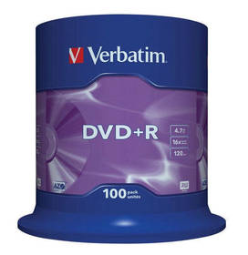 Verbatim DVD+R 4,7GB, 16x, 100cake (43551)