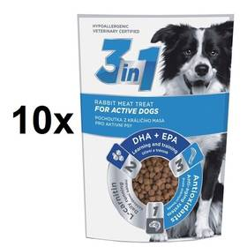 DIBAQ 3in1 Dog Active králičí 10 x 100g
