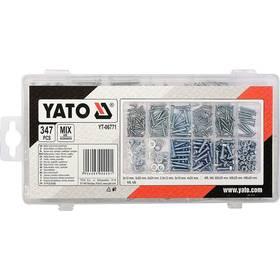 YATO - vruty, šrouby, matice a podložky, 347 ks