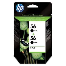 HP No. 56, *19ml, 900 (2x450) stran, 2 pack - originální (C9502AE) černá