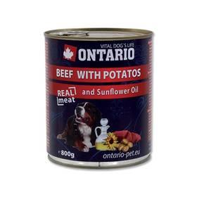 Ontario Adult hovězí, brambor a slunečnicový olej 800g