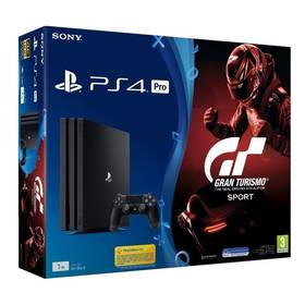 Sony PlayStation 4 PRO 1TB + Gran Turismo Sport + PS Plus 14 dní (PS719905967) čierna