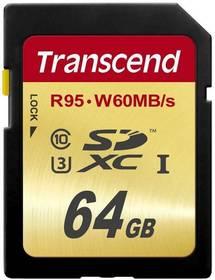 Transcend SDXC Ultimate 64GB UHS-I U3 (95MB/s) (TS64GSDU3)