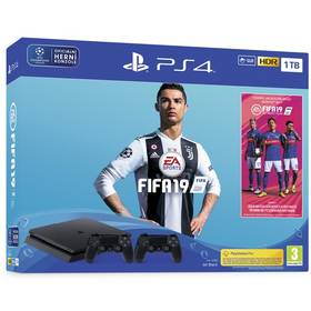 Sony PlayStation 4 SLIM 1TB + FIFA 19 + DualShock 4 (PS719752110) černý Hra Sony PlayStation 4 Uncharted 4: A Thief's End (zdarma)
