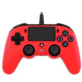 Nacon Wired Compact Controller pro PS4 (ps4hwnaconwccred) červený