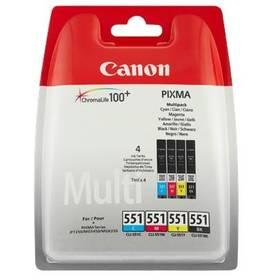 Canon CLI551, 4x 7ml - originální (6509B009) černá/červená/modrá/žlutá