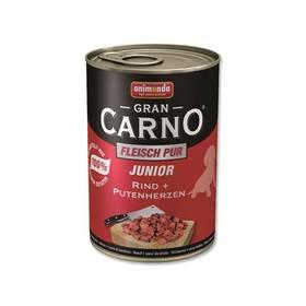 Animonda Junior Gran Carno hovězí + krůtí srdce 400g