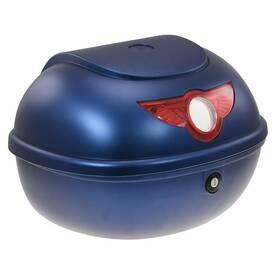 Zadní kufr k elektrickému motocyklu RACCEWAY SMART, modrý-lesklý