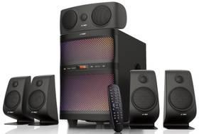Fenda F&D F5060X 5.1, bluetooth, rádio, USB, SD karta, dálkové ovládání (F5060X) černé
