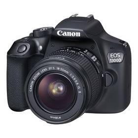 Canon EOS 1300D + 18-55 IS II (1160C025) černý + K nákupu poukaz v hodnotě 1 000 Kč na další nákup + Doprava zdarma