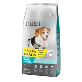Nutrilove Dog dry Junior S-M fresh chicken 8kg + 1,6 kg ZDARMA