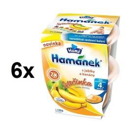 Hamánek svačinka s jablky a banány 6x(2x130g)
