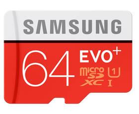Samsung Micro SDXC EVO+ 64GB UHS-I U1 (80R/20W) + adapter (MB-MC64DA/EU)