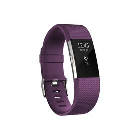Fitbit Charge 2 large - Plum Silver (FB407SPML-EU)