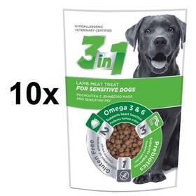 DIBAQ 3in1 Dog Sensitiv jehněčí 10 x 100g
