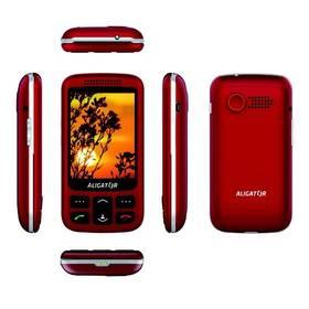 Aligator VS 900 Senior Dual SIM (AVS900RS) stříbrný/červený (vrácené zboží 8800373348)
