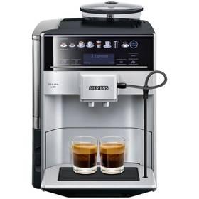 Siemens EQ.6 TE653311RW stříbrné + Káva BIO zrnková Uganda 250 g Simon Lévelt v hodnotě 159 Kč + Doprava zdarma