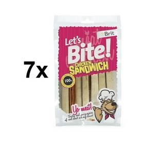Brit Lets Bite Chicken Sandwich 7 x 80 g