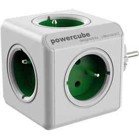 Powercube Original, 5x zásuvka biela/zelená