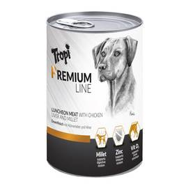 Tropi Premium line s kuřecím a jáhly, 400g