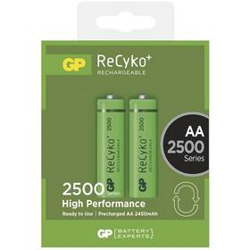 GP ReCyko+ AA, HR6, 2500mAh, Ni-MH, krabička 2ks (1032212110)