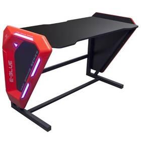 E-Blue 125x62 cm, podsvícený (EGT002BKAA-IA) černý/červený
