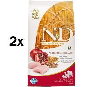 N&D Low Grain DOG Adult Chicken & Pomegranate 2 x 12 kg + Doprava zdarma