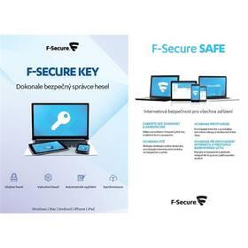 F-Secure TOTAL, 3 zařízení / 1 rok + KEY Premium X zařízení / 2 roky (FCFTBR1N003G1KEY) + Doprava zdarma