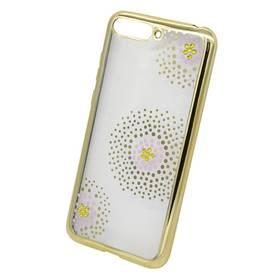 Beeyo Flower Dots pro Honor 7A (BEAHUHO7AFDGO) zlatý (poškozený obal 8800358484)