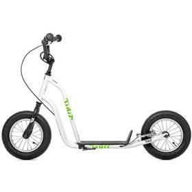 """Yedoo Basic Tidit 12"""" bílá + Reflexní sada 2 SportTeam (pásek, přívěsek, samolepky) - zelené v hodnotě 58 Kč"""