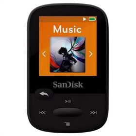 Sandisk Sansa Clip Sports 8 GB (SDMX24-008G-G46K) černý (rozbalené zboží 8800477606)