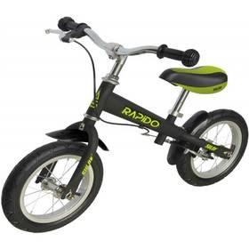 """Sulov RAPIDO 12"""" černé + Reflexní sada 2 SportTeam (pásek, přívěsek, samolepky) - zelené v hodnotě 58 Kč"""