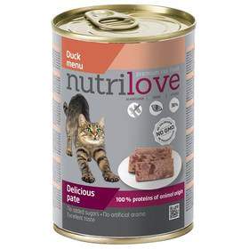 Nutrilove Cat paté Duck 400g