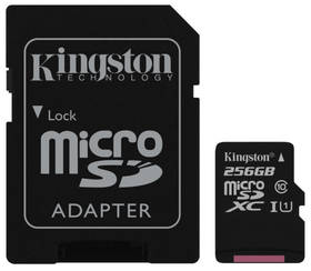 Kingston Canvas Select MicroSDXC 256GB UHS-I U1 (80R/10W) + adapter (SDCS/256GB)