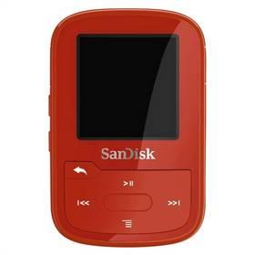 Sandisk Sansa Clip Sport Plus 16 GB (SDMX28-016G-G46R) červený
