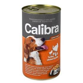 Calibra Dog Adult krůtí + kuřecí + těstoviny v želé 1240 g
