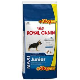 Royal Canin Maxi Junior 15 + 3 kg + Doprava zdarma