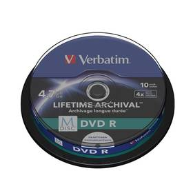 Verbatim DVD-R M-Disc 4,7GB, 4x, printable, 10-cake (43824)