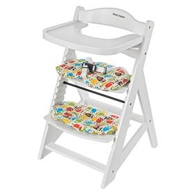 Rostoucí židlička Sun Baby Woody white dřevěná + Doprava zdarma