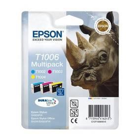 Epson T1006, 3x 11ml (C13T10064010) modrá/žlutá/růžová (vrácené zboží 2100008535)