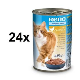 Reno pro kočky s kuřecím 24 x 415g